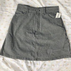 NWT Gingham Brandy Melville skirt